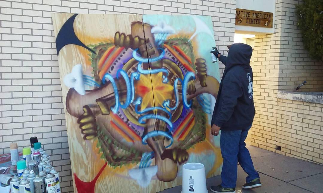 WNMU Mural by SABA